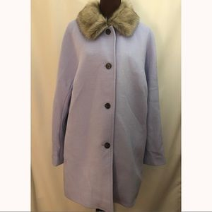 TALBOTS Wool Blend Coat Purple Lavender